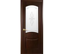 Двери межкомнатные Новый Стиль ИНТЕРА Донна Р1 2000х34 мм Каштан
