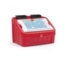 Ящик для іграшок і для творчості BOX & ART 2 в 1 48x78x48 см червоний