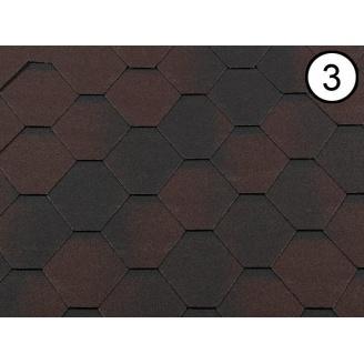 Битумная черепица RoofShield Премиум Стандарт 3 коричневый антик