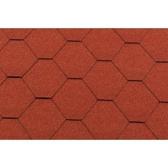Битумная черепица RoofShield Премиум Стандарт 12 кирпично-красная