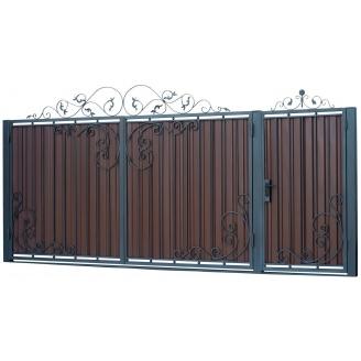 Кованые ворота В-08 3450х1900 мм