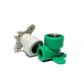 Колено 90 градусов полипропиленовое настенное PipeLife PP-R 20 мм