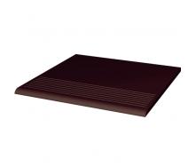 Ступень рельефная прямая гладкая Paradyz Natural BROWN 30x30 см
