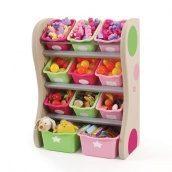 Органайзер с разноцветными ящиками FUN TIME ROOM ORGANIZER 89х67х36 см розовый салатовый