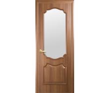 Двери межкомнатные Новый Стиль ИНТЕРА Рока со стеклом сатин 600х2000 мм золотая ольха