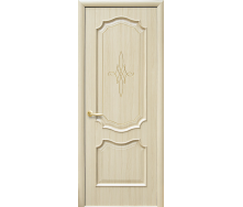 Двери межкомнатные Новый Стиль ИНТЕРА Рока с золотой гравировкой 600х2000 мм ясень