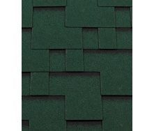 Битумная черепица RoofShield Премиум Модерн 22 зеленый с оттенением
