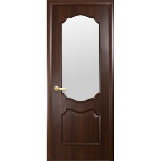 Двери межкомнатные Новый Стиль ИНТЕРА Рока с сатиновым стеклом 600х2000 мм каштан