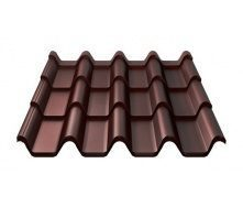 Металлочерепица Ruukki Armorium Purex 0,5 мм шоколадный