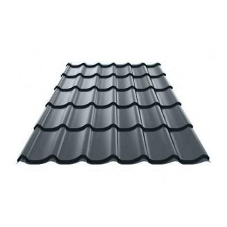 Металлочерепица Ruukki Monterrey Polyester Matt 0,5 мм темно-серый