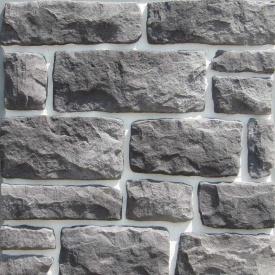 Фасадний камінь 175х50х60 мм сірий