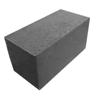 Колений блок 150х170х180 мм сірий