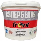 Краска водоэмульсионная супербелая шелково-глянцевая Фронт (7 кг)
