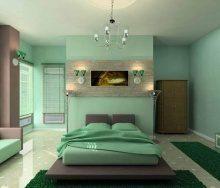 Зеленый цвет во всем многообразии в интерьере квартиры