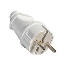 Вилка электрическая прямая с заземляющей клеммой