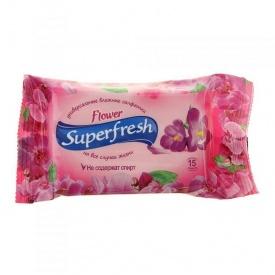 Влажные салфетки Superfresh Flower 15 шт
