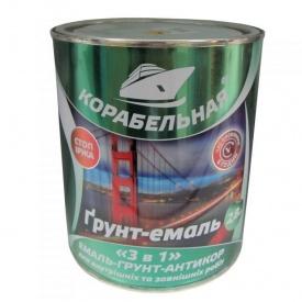 Грунт-эмаль 3 в 1 Корабельная красно-коричневая 2,8 кг