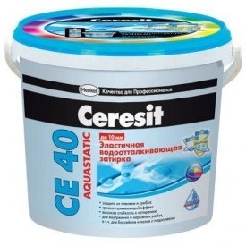 Затирка для швов плитки водостойкая Ceresit CE 40 абрикосовая 2 кг