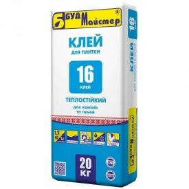 Клей для плитки для каминов и печей БудМайстер КЛЕЙ-16 20 кг