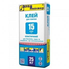 Клей для плитки эластичный БудМайстер КЛЕЙ-15 25 кг