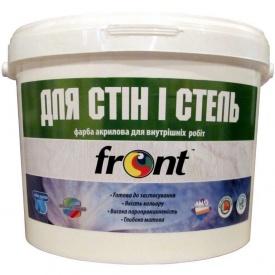 Краска водоэмульсионная для стен и потолка Фронт 12 кг
