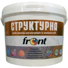 Краска водоэмульсионная структурная Фронт 12 кг