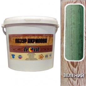 Лазурь для древесины акриловая Зеленая Фронт 5 кг