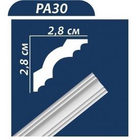 Плинтус потолочный Premium Decor PA30 2,00 м 30x30