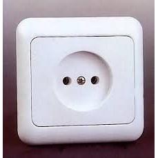 Розетка электрическая без заземляющего контакта РС 10-002 белая