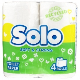 Туалетная бумага Solo Ультра 4 шт