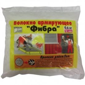 Фибра полипропиленовая 12 мм 0,6 кг