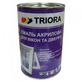 Эмаль акриловая для окон и дверей Триора белая 1,25 л
