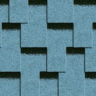 Битумная черепица Icopal Plano Claro 1000*320 мм голубой