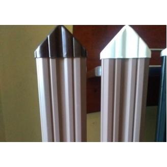 Пластиковый наконечник к штакетнику Next Level Plast треугольник 35 мм