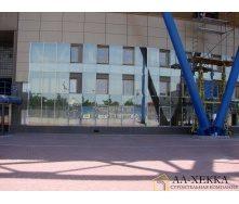 Монтаж светопрозрачного фасада по системе Структурное остекление под заказ