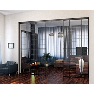 Монтаж стеклянной перегородки в квартирах и домах под заказ