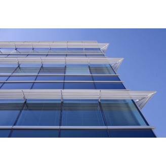 Облицовка глухого вентилируемого фасада облицовочным стеклом