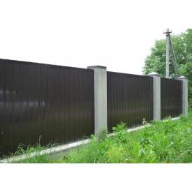 Профнастил стеновой ПС-7 мм 0,4 мм с глянцевым полимерным покрытием