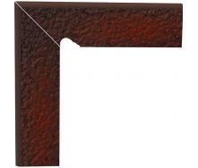 Цоколь двухэлементный Paradyz CLOUD лестничный структурный левый 30х30 см brown duro