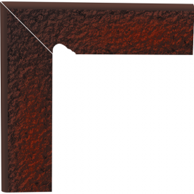 Цоколь двухэлементный Paradyz CLOUD сходовий структурний лівий 30х30 см brown duro