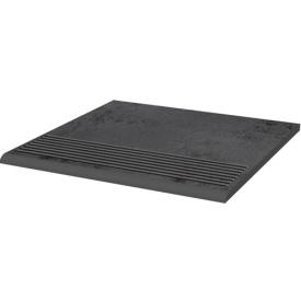 Клінкерна плитка Paradyz Semir Grafit щабель рельєфна prosta strukturalna 30х30 см