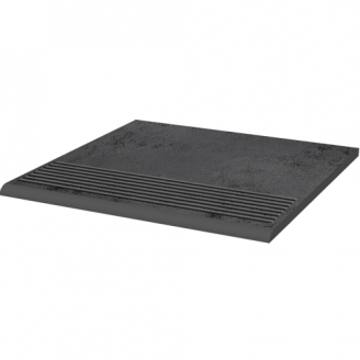 Клинкерная плитка Paradyz Semir Grafit ступень рельефная prosta strukturalna 30х30 см