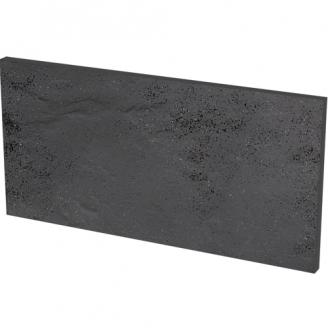 Клинкерная плитка Paradyz Semir Grafit Базoвая под ступени cтруктурная 30x14,8 см