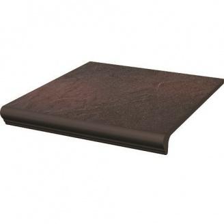 Клинкерная плитка Paradyz Semir Rosa ступень с капиносом прямая структурная 30х33 см