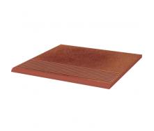 Клинкерная плитка Paradyz Taurus Rosa ступень рельефная prosta strukturalna 30х30 см