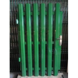Калитка из штакета односторонняя зеленая