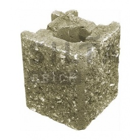 Камень навесной угловой Силта-Брик Элит 25 129х150х129 мм