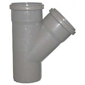 Тройник 90° для внутренней канализации пропилен 110х110х50 мм