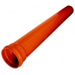 Труба наружная канализационная ПВХ 160х3,2 мм 1 м рыжая