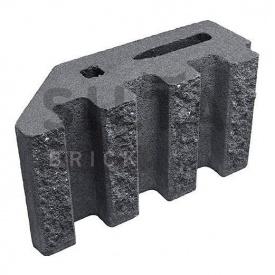 Блок декоративний Сілта-Брік Кольоровий 0-21 канелюрний кутовий 390х190х140 мм